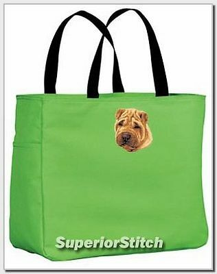SHAR PEI embroidered essential tote bag ANY COLOR