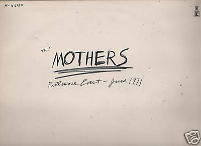 The Mothers - Fillmore East June 1971 K 44150  Lp Uk