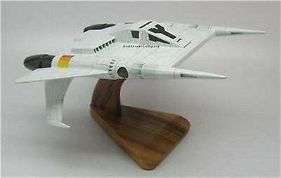 Thunder Fighter Buck Rogers Mahogany Kiln Dry Wood Model Spacecraft Large New