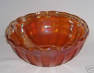 IMPERIAL CARNIVAL GLASS DIAMOND POINT COLUMNS BOWL N R