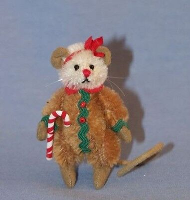 """DEB CANHAM  """"GINGERBREAD MOUSE""""  MINIATURE MOHAIR MOUSE"""
