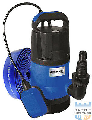 Submersible Pump 550w + 10m Flat Hose Hot Tub Pool Spa Spas Tubs 200L per Minute