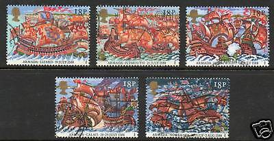 GB 1988 400th anniv Spanish armada fine used set stamps