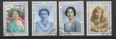 GB 1990 Queen Mother 90th Birthday fine used set stamps