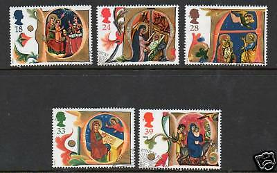 GB 1991 Christmas fine used set stamps