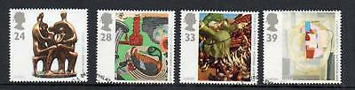 GB 1993 Europa Art fine used set stamps