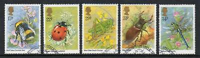 GB 1985 Insects fine used set stamps