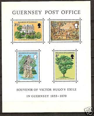 GUERNSEY # 126a MNH POST OFFICES & VICTOR HUGO'S EXILE