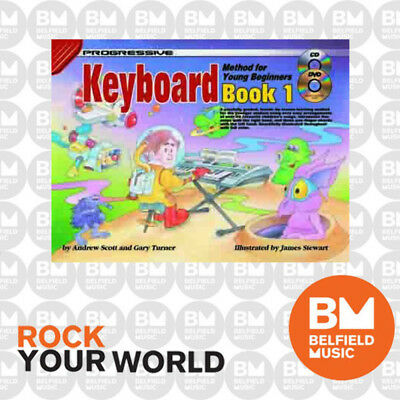 Progressive 18341 KEYBOARD for Young Beginners Learning Book 1 Free DVD KPYE1CP