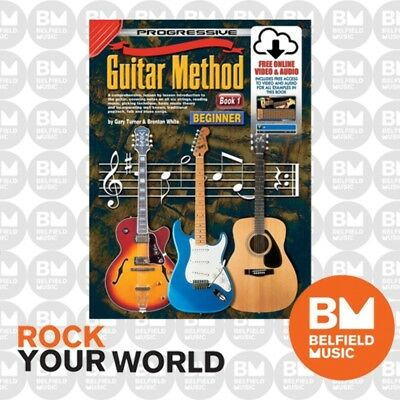 Progressive 54048 GUITAR METHOD for Beginners Book 1 Tuition Free CD/DVD KPGM1CP