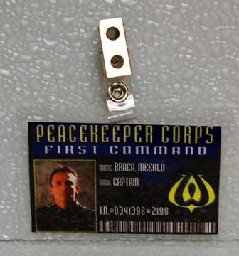 Farscape ID Badge-Peacekeeper Corps Capt Braca