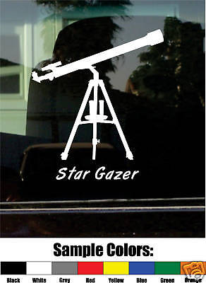 Refractor Telescope Stargazer Vinyl Decal/sticker