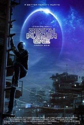 """READY PLAYER ONE 2018 Advance Teaser DS 2 Sided 27x40"""" Movie Poster Plus BONUS"""