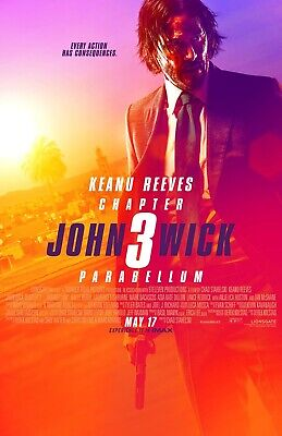 "JOHN WICK CHAPTER 3 PARABELLUM 2019 Advance DS 2 Sided 27x40"" US Movie Poster"