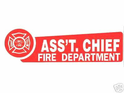 FIRE DEPARTMENT COMMISSIONER Highly Reflective DECAL