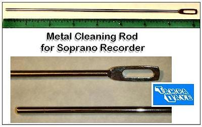 Metal recorder cleaning rod: attach swab and insert