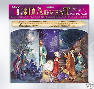Christmas Nativity Advent Calendar & Candle Set 11184