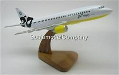 B-737 Go Airlines Boeing 737 Airplane Mahogany Kiln Dry Wood Model Large New