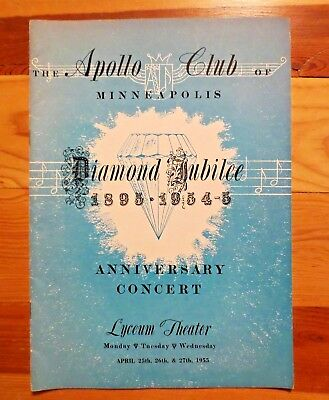 1955 Apollo Club 60th Anniversary Concert Program MN