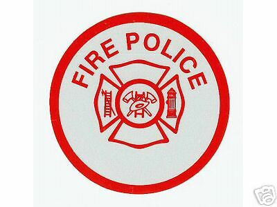 FIRE POLICE Fire Department Highly Reflective Vinyl Decal - FIRE POLICE DECAL