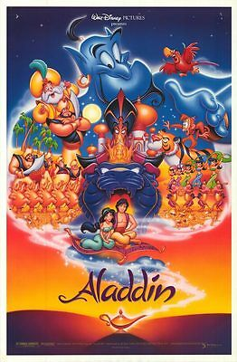 "Walt Disney's Classic ALADDIN 1992 Original DS 2 Sided 27x41"" US Movie Poster"