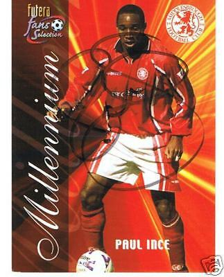 Middlesbrough signed trade card - Paul Ince