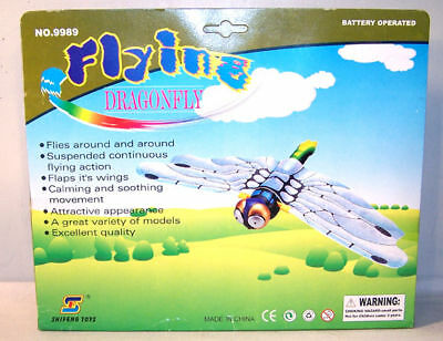 4 BATTERY OPERATED FLYING DRAGONFLY toy insects bugs