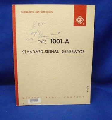 General Radio GenRad Type 1001-A Operating Instructions