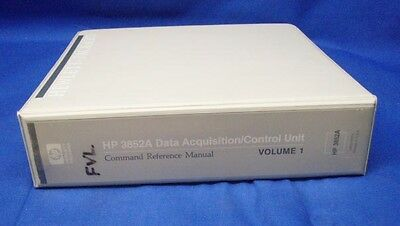 HP 3852A Data/Acquisition Command Reference Manual V 1