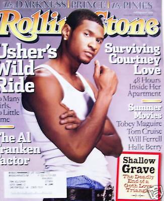 Rolling Stone 5/04 Usher/Al Franken/Courtney Love/Prince/Shallow Grave/Pixies