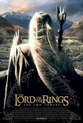 Lord Of The Rings TWO TOWERS 2002 Version C Original DS 2 Sided Movie Poster