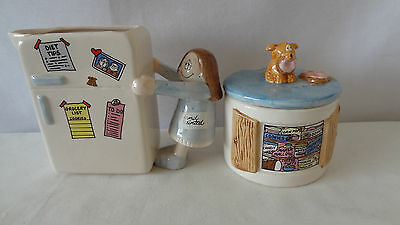 Cathy 1995 Papel Kitchen Collection Creamer And Sugar Bowl Set #A208
