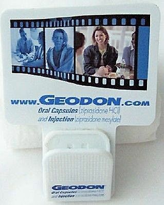 GEODON DRUG REP LOGO COLLECTIBLE CLIP MAGNET