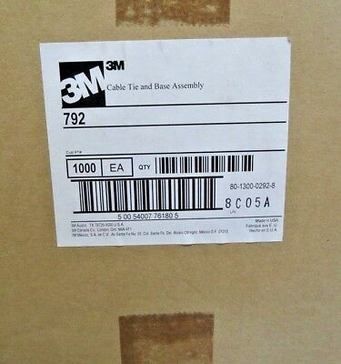 3m Cable #792 Tie And Mounting Base Assembly 1000pcs.