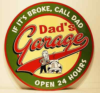 Dad's Ford Garage Sign Retro Metal New 24""