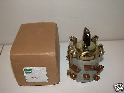 New Electroswitch 30A 500Vac Rotary Switch 113106Aa