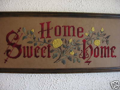 Antique Motto Sampler Embroidery kit, Home Sweet Home