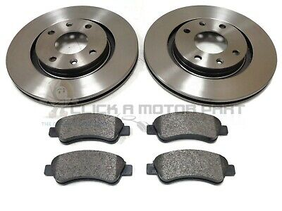 MERCEDES CLK200 03-09 FRONT 2 BRAKE DISCS AND PADS SET CHECK SIZE /& PAD TYPE