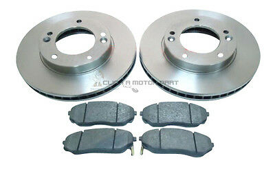 2X REAR BRAKE DISCS FOR KIA SORENTO I 2.4 2.5 CRDI 3.3 3.5 V6 AWD