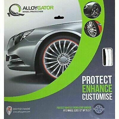 Alloygator In White Alloy Wheel Rim Protection Protector Rimband Supplied & Fit