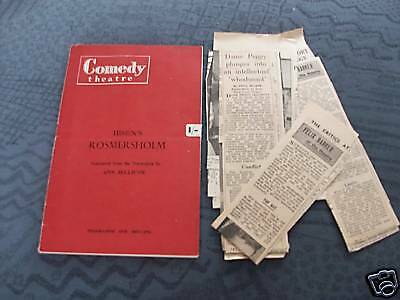 Ibsens Rosmersholm Theatre Programme & Clippings 1960