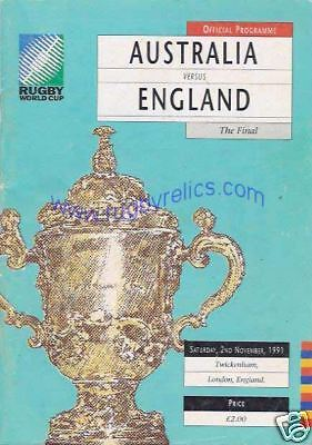 Rugby World Cup Final 1991 Programme Australia England