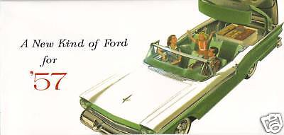 1957 Ford  Sales Brochure-Full Size