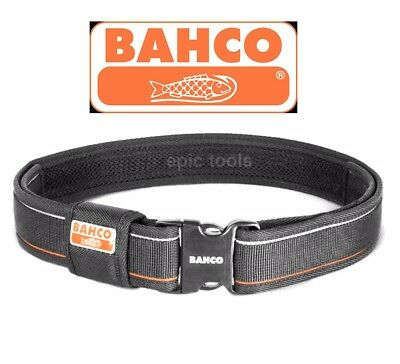 """BAHCO 29"""" To 48"""" Black Quick Release 2"""" Webbing Nylon Work Tool Belt,QRFB-1"""