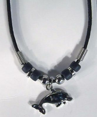 12 SHELL DOLPHIN ROPE NECKLACE PAUA jewelry dolphins