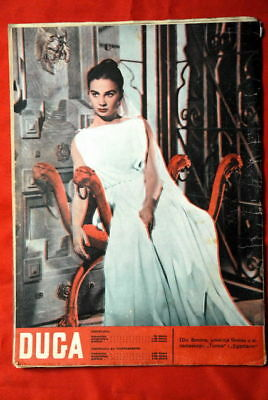 JEAN SIMMONS ON BACK COVER 1956 RARE EXYU MAGAZINE