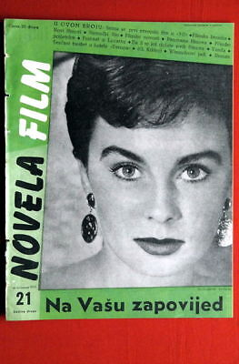 JEAN SIMMONS ON COVER #2 1953 RARE EXYU MAGAZINE