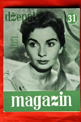 JEAN SIMMONS ON COVER #2 1957 VERY RARE EXYU MAGAZINE