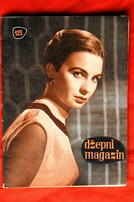 JEAN SIMMONS ON COVER 1958 VERY RARE EXYU MAGAZINE