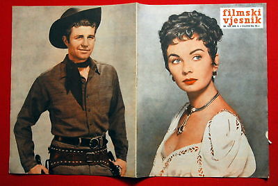 JEAN SIMMONS ON COVER KELLY RYAN 1956 RARE EXYU MAGAZIN